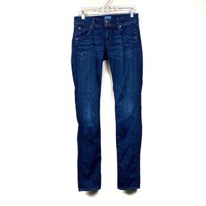Hudson dark wash skinny jeans mid rise 28